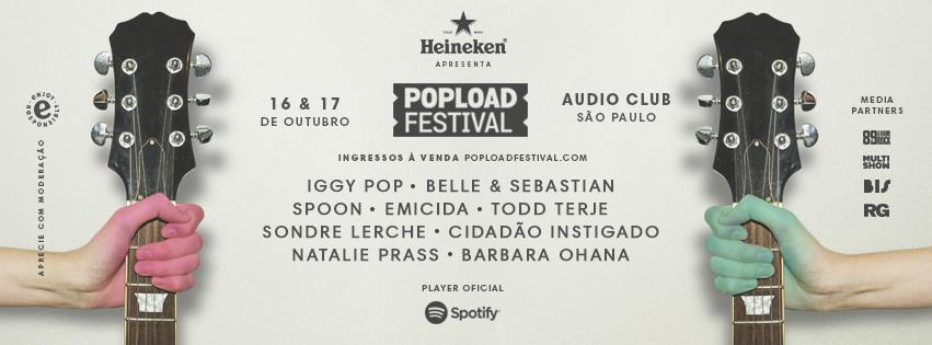 Popload Festival 2015 traz Iggy Pop e Belle and Sebastian