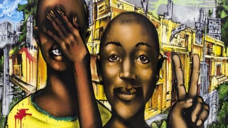 Obras em graffiti sobre a consciência negra estão em exposição na Vila Madalena