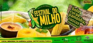 Em maio acontece o 4º Festival do Milho