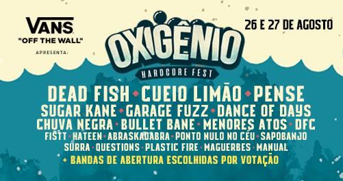 Oxigênio Hardcore Fest 2017 divulga seu line-up e demais atrações