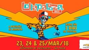 Lollapalooza Brasil anuncia datas da edição de 2018