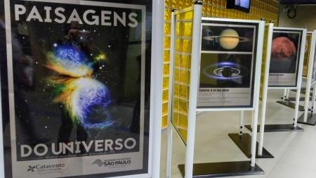 Exposição de Astronomia no Metrô