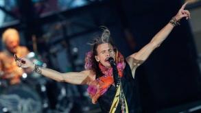 Aerosmith toca no SPTrip e mostra que continua o mesmo de sempre