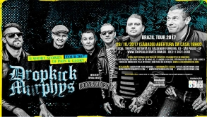 Dropkick Murphys e Booze & Glory desembarcam no Brasil neste fim de semana