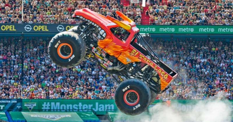 Trucks enormes invadem o Allianz Parque no Monster Jam 2019