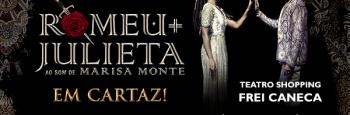 """Musical """"Romeu e Julieta"""" fica em cartaz em São Paulo até o fim do mês"""