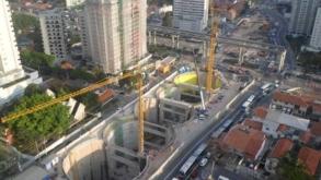 Estação Campo Belo da linha 5 Lilás, deve inaugurar em Abril