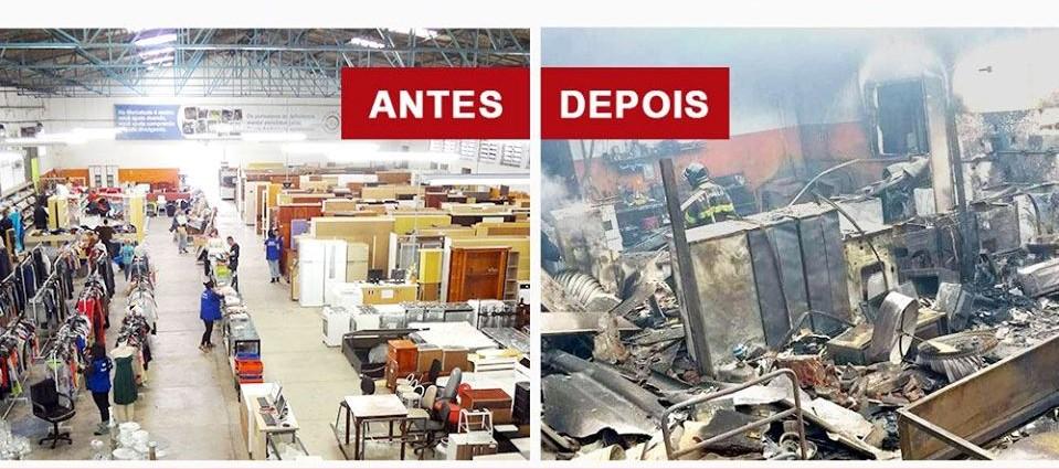 Casas André Luiz fazem campanha de arrecadação após incêndio