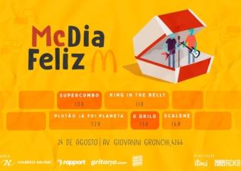 McDia Feliz: Scalene e Supercombo fazem shows de graça