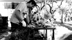 Mutirão de pintura de carroças de catadores em SP com shows culturais