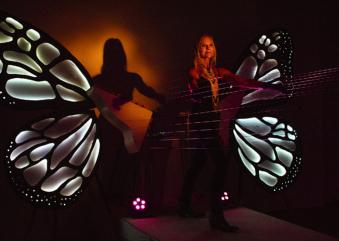 Natal Iluminado traz harpa gigante para centro de SP