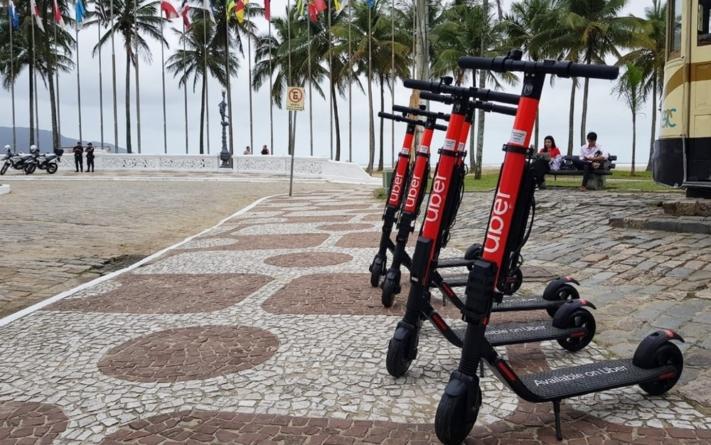 Uber lança aluguel de patinetes elétricos em Santos