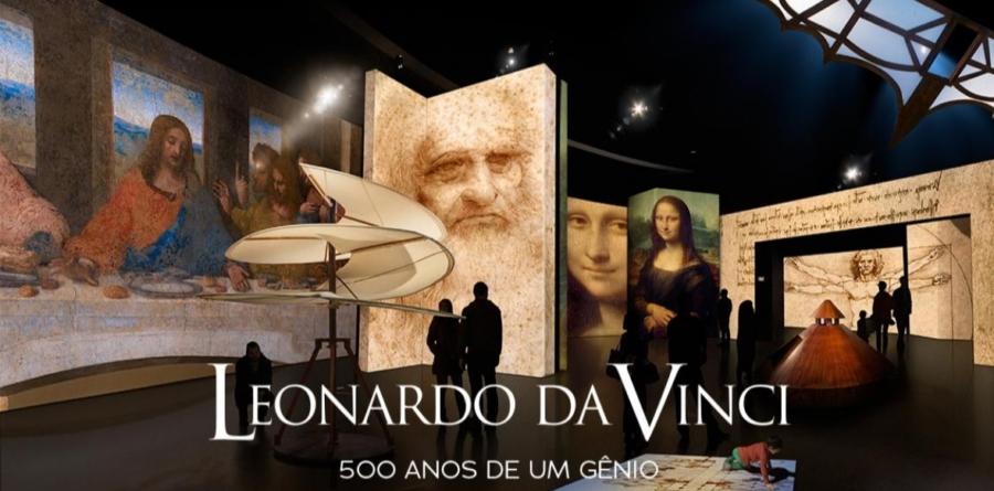 Exposição sobre o legado de Leonardo Da Vinci é prorrogada até maio