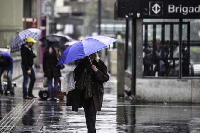 Final de semana em SP será de frio e chuva