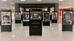 West Plaza recebe mostra com desenhos feitos à base de grafite