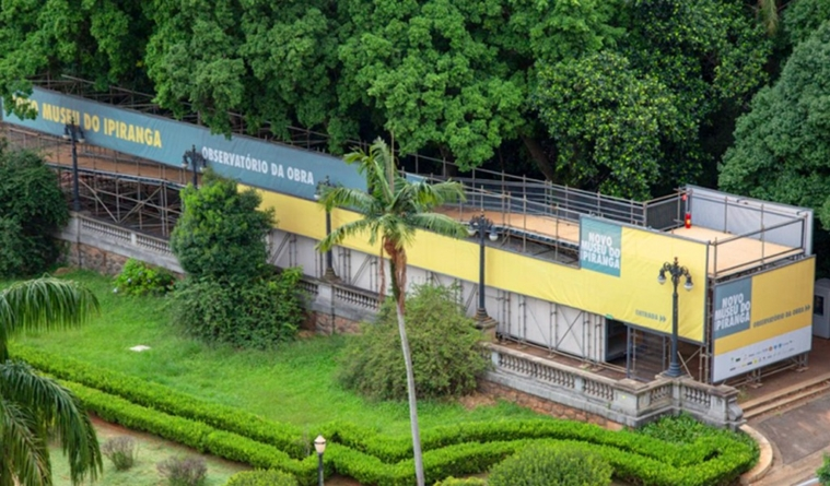 Museu do Ipiranga inaugura mirante para público acompanhar obras