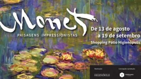 Mostra interativa sobre Claude Monet em cartaz no Shopping Pátio Higienópolis